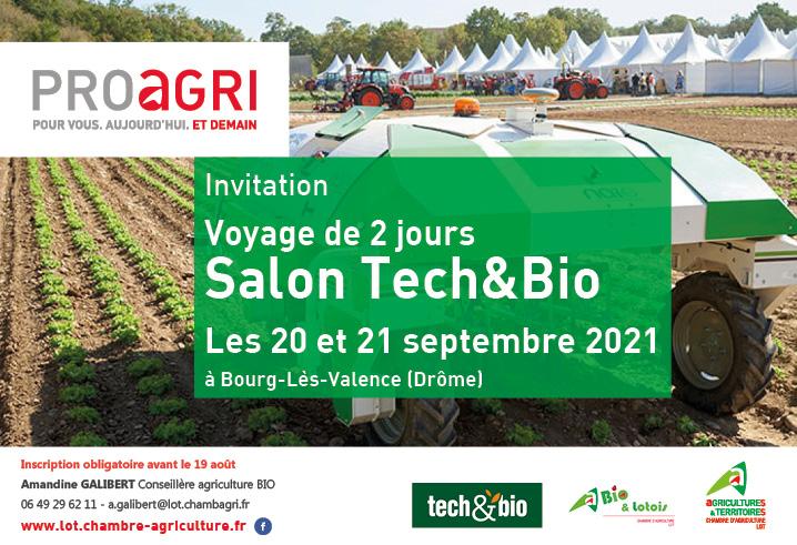 Visitez le Salon International Tech&Bio, 1er salon professionnel europpéen des techniques alternatives et Bio